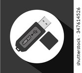 usb concept with technology... | Shutterstock .eps vector #347614526