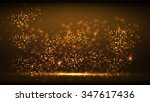 glow gold light new year... | Shutterstock .eps vector #347617436