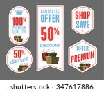 discount product labels and...   Shutterstock .eps vector #347617886