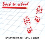 back to school type  pencil and ... | Shutterstock .eps vector #34761805