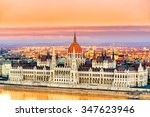view of budapest parliament at...   Shutterstock . vector #347623946