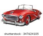Stock vector vintage car 347624105