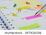 pencil with colorful sticky... | Shutterstock . vector #347626106