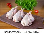 Постер, плакат: Fresh quail meat on