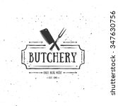 Постер, плакат: Butcher Shop Emblem Meat