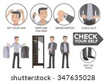 how to social event. dress men... | Shutterstock .eps vector #347635028