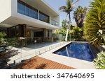 rear garden of a contemporary...   Shutterstock . vector #347640695