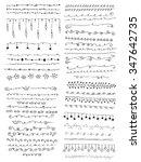 hand drawn vector line border... | Shutterstock .eps vector #347642735