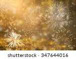fireworks at new year and copy... | Shutterstock . vector #347644016