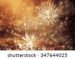 fireworks at new year and copy... | Shutterstock . vector #347644025
