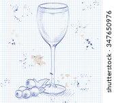 kir alcohol cocktail ... | Shutterstock .eps vector #347650976