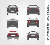 Stock vector beautiful vector illustration of car images useful for icon and logotype design on a light 347653382
