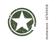 army star  war symbol  vector | Shutterstock .eps vector #347654318