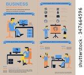 business infographics . working ... | Shutterstock .eps vector #347664596