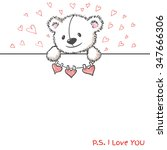 banner with sketch style hand... | Shutterstock . vector #347666306