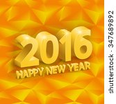 inscription happy new year ... | Shutterstock .eps vector #347689892