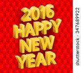 inscription happy new year ... | Shutterstock .eps vector #347689922