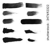black ink vector brush strokes | Shutterstock .eps vector #347692322