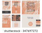 hand drawn collection of 6... | Shutterstock .eps vector #347697272
