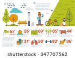 illustration of park... | Shutterstock .eps vector #347707562