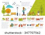 illustration of park... | Shutterstock .eps vector #347707562