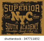 new york  city superior  vector ... | Shutterstock .eps vector #347711852