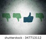 social media concept  row of... | Shutterstock . vector #347713112