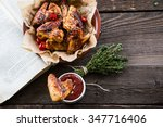 fried chicken wings | Shutterstock . vector #347716406