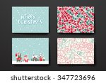merry christmas set of card... | Shutterstock .eps vector #347723696