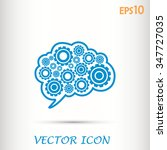 cogs in the shape of a human... | Shutterstock .eps vector #347727035