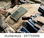 green us flag patch on the... | Shutterstock . vector #347733008