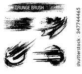 vector set of grunge brush... | Shutterstock .eps vector #347744465