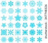 set of vector snowflakes icon.... | Shutterstock .eps vector #347748326