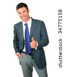 portrait  nice businessman in ... | Shutterstock . vector #34775158