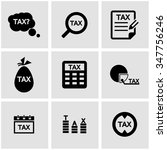 vector black tax icon set. | Shutterstock .eps vector #347756246