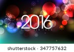 eps10 vector 2016 new years eve ... | Shutterstock .eps vector #347757632