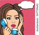 vector surprised pop art comic... | Shutterstock .eps vector #347759642