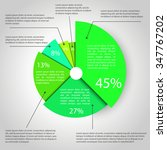 abstract pie chart graphic for... | Shutterstock .eps vector #347767202