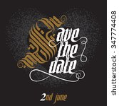 save the date  wedding... | Shutterstock .eps vector #347774408
