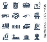 oil industry icons set with... | Shutterstock .eps vector #347774615