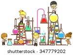 cartoon children kid student... | Shutterstock .eps vector #347779202