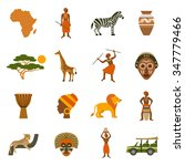 africa icons set with... | Shutterstock .eps vector #347779466