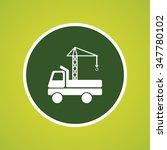 crane truck icon | Shutterstock .eps vector #347780102