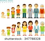 people generations at different ... | Shutterstock .eps vector #347788328