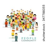 modern multicultural society... | Shutterstock .eps vector #347788355