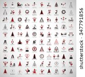 christmas icons and elements... | Shutterstock .eps vector #347791856