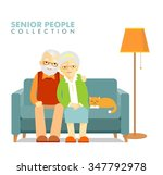 social concept   old people... | Shutterstock .eps vector #347792978