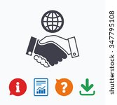 world handshake sign icon.... | Shutterstock . vector #347795108