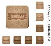 set of carved wooden ram chip...
