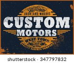 motorcycle t shirt graphic | Shutterstock .eps vector #347797832